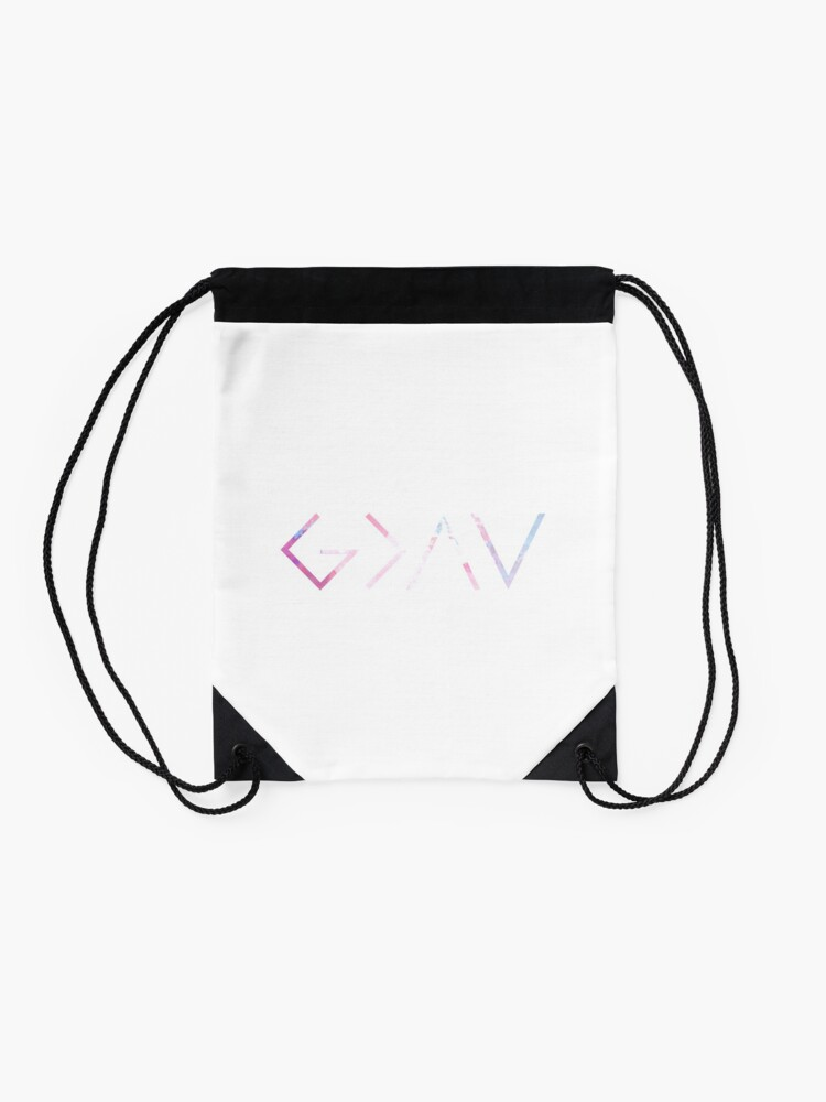 Alternate view of God Is Greater Than the Highs and Lows Drawstring Bag