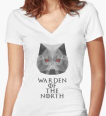 The Warden of the North Women's Fitted V-Neck T-Shirt