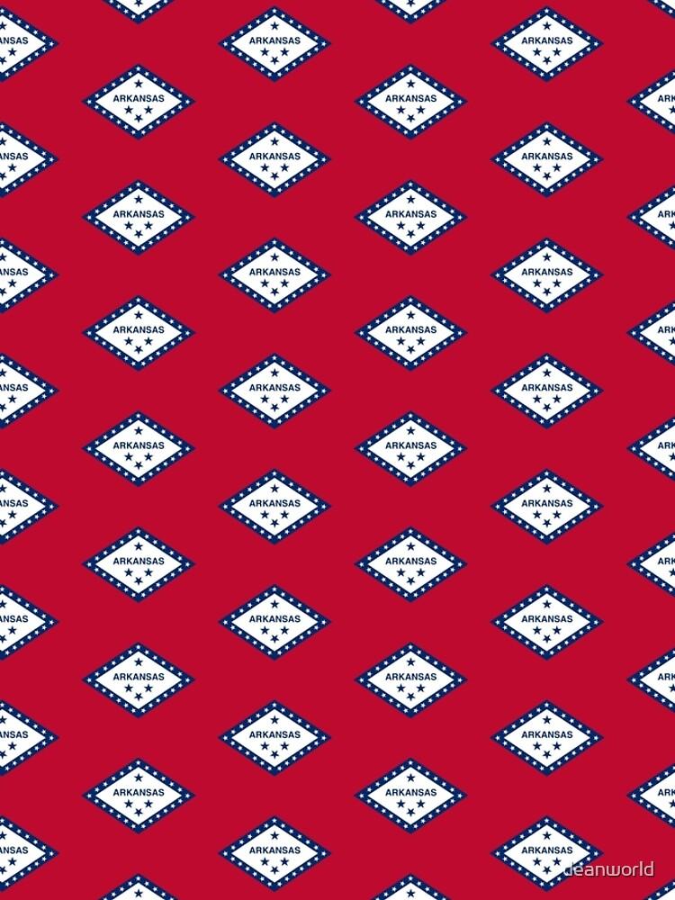 Little Rock Arkansas Flag - USA State Sticker T-Shirt Duvet by deanworld