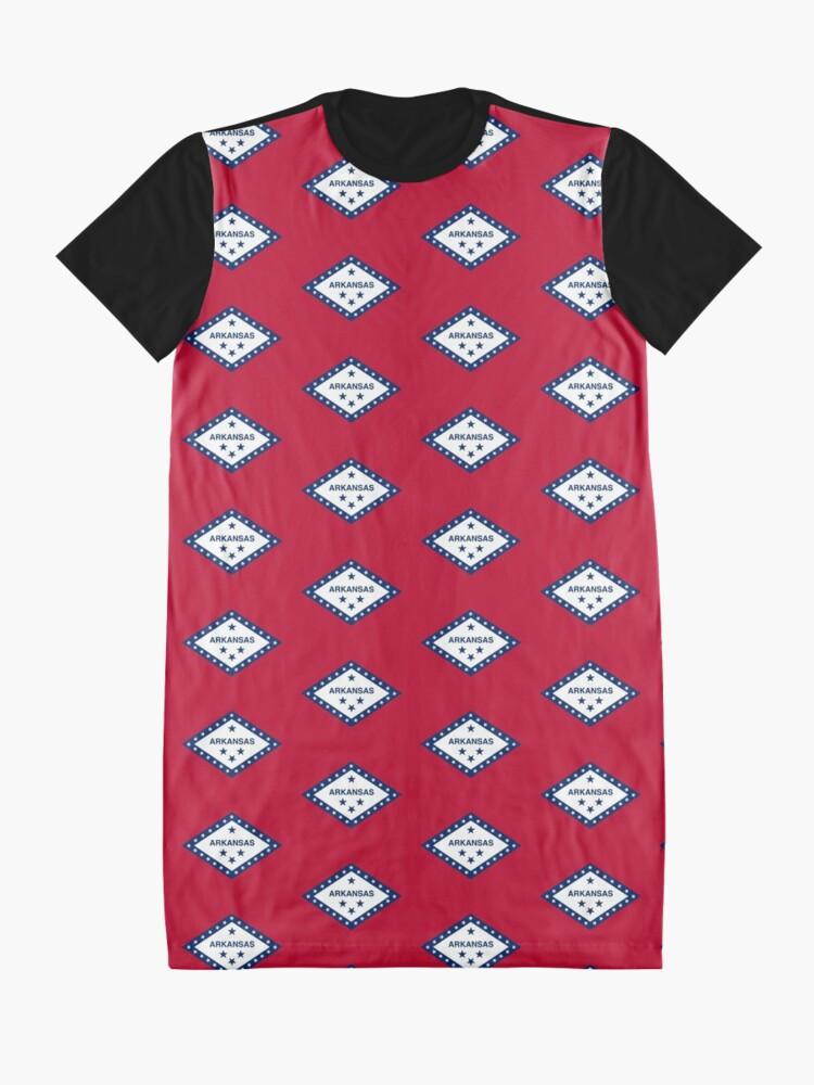 Alternate view of Little Rock Arkansas Flag - USA State Sticker T-Shirt Duvet Graphic T-Shirt Dress