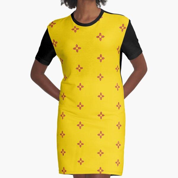 New Mexico Flag - USA State Santa Fe Sticker T-Shirt Duvet Graphic T-Shirt Dress