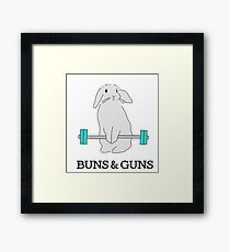 BUNS & GUNS Framed Print