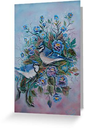 Blue Jays by Irene Clarke