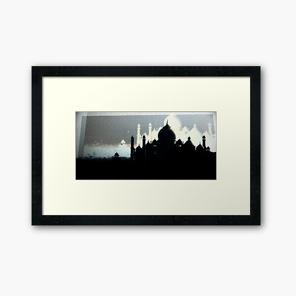 A Silent Film About a Death in Agra Framed Art Print