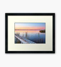 Stunning sunset at Long Jetty NSW Australia seascape Framed Print