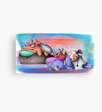 Sleepy Dragons Canvas Print