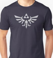 The Legend of Zelda Royal Crest (silver) Unisex T-Shirt