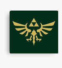 The Legend of Zelda Royal Crest (gold) Canvas Print