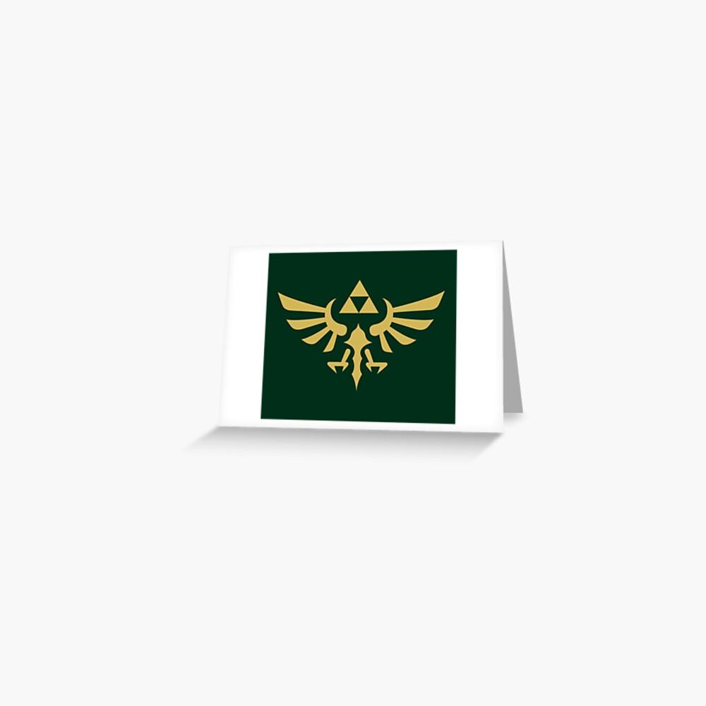 The Legend of Zelda Royal Crest (gold) Greeting Card