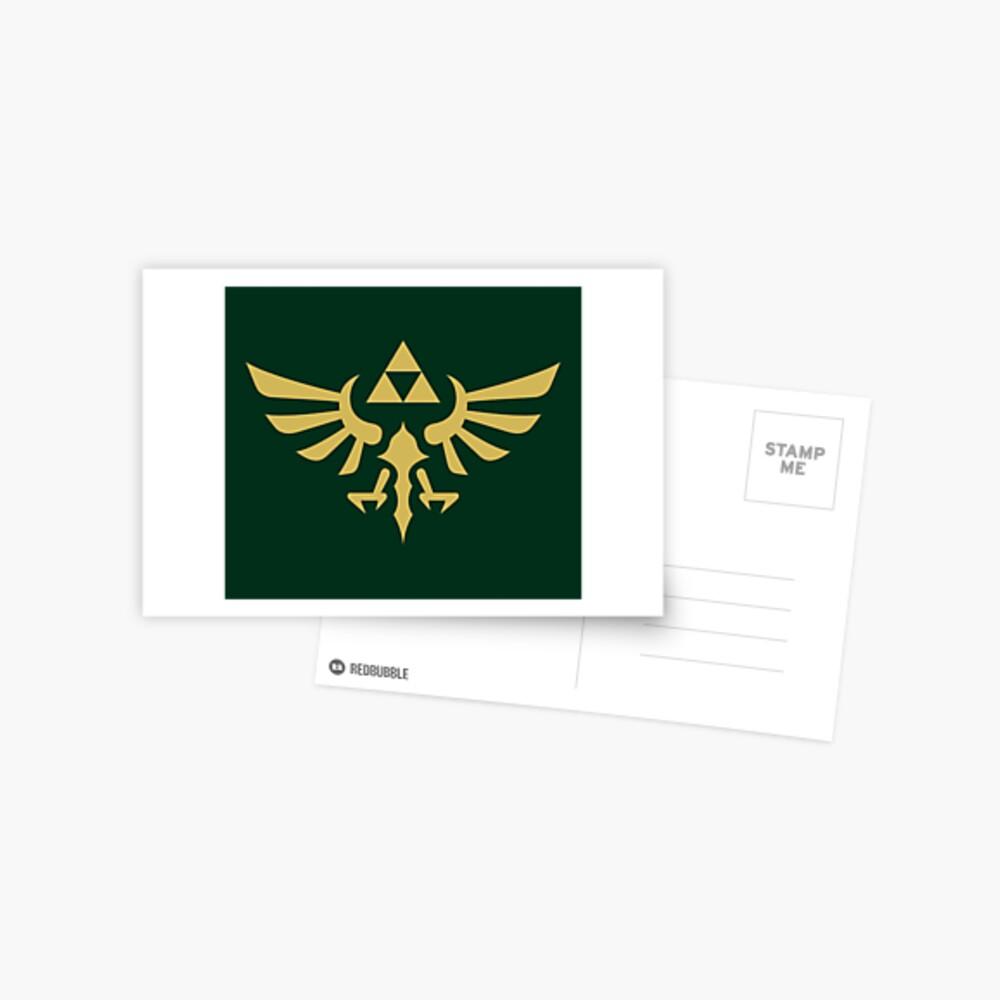 The Legend of Zelda Royal Crest (gold) Postcard