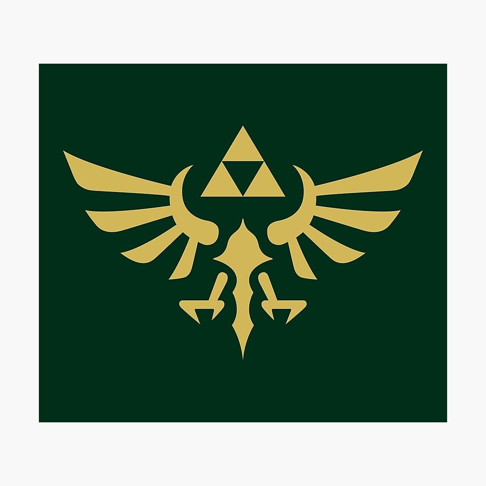 The Legend of Zelda Royal Crest (gold) Photographic Print
