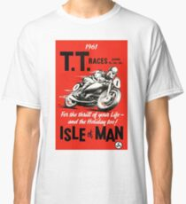 T.T. ISLE of MAN: Vintage Motorcycle Racing Print Classic T-Shirt