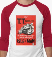 T.T. ISLE of MAN: Vintage Motorcycle Racing Print T-Shirt