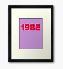 1982 - Eighties Child T-Shirt - 1980s Decade Clothing Framed Print