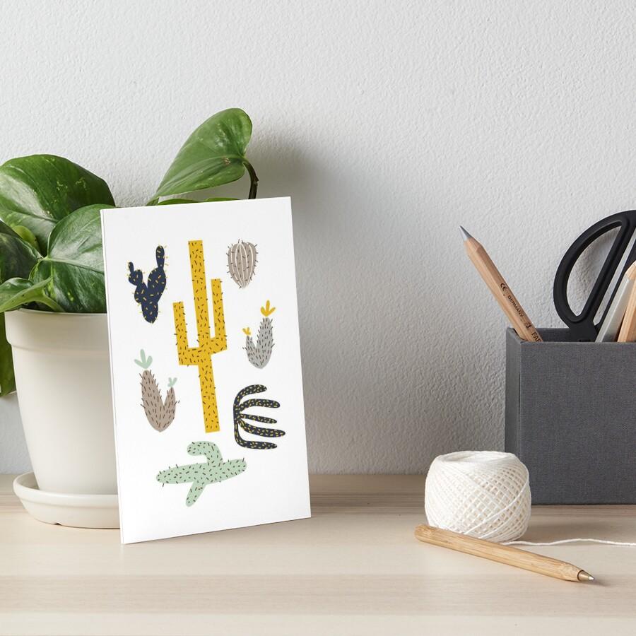 Kaktus - Senf Marine Galeriedruck