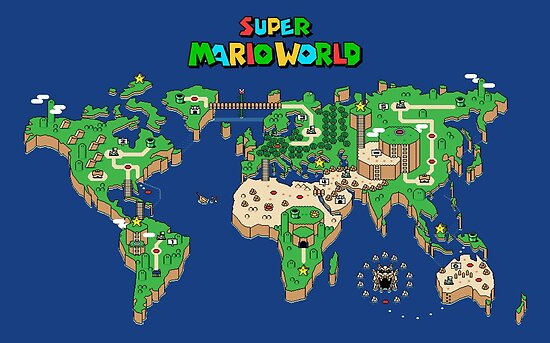 Psters smw super mario world map de orinemaster redbubble smw super mario world map de orinemaster gumiabroncs Image collections