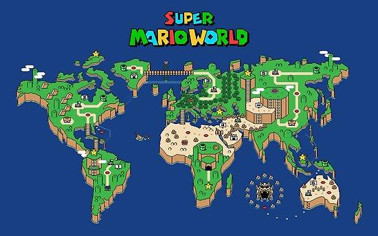 SMW Super Mario World Map\