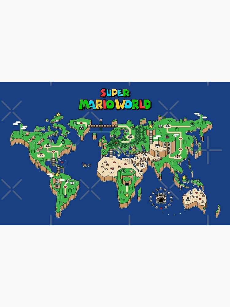 SMW Super Mario World Map | Photographic Print