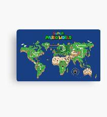 SMW Super Mario Weltkarte Leinwanddruck