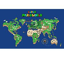 Smw super mario world map posters by orinemaster redbubble photographic print gumiabroncs Gallery