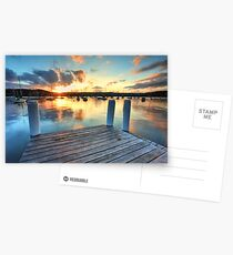 Point Frederick Gosford Australia sunset  seascape Postcards