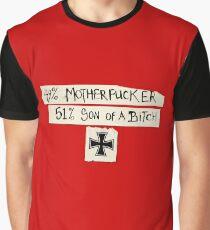 49% Motherfucker - 51% Son of a Bitch Iron cross Graphic T-Shirt