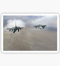 A pair of U.S. Air Force F-16C Fighting Falcons in flight over Afghanistan. Sticker