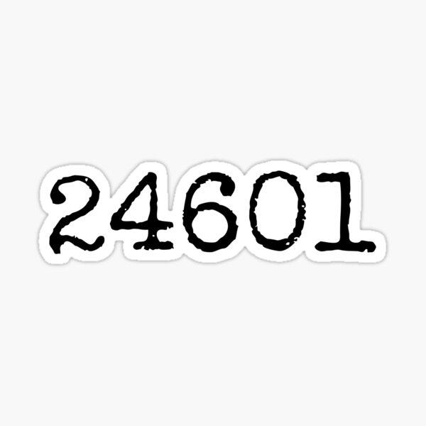 24601 - les miserables Sticker