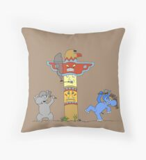 Indian Elephants Throw Pillow