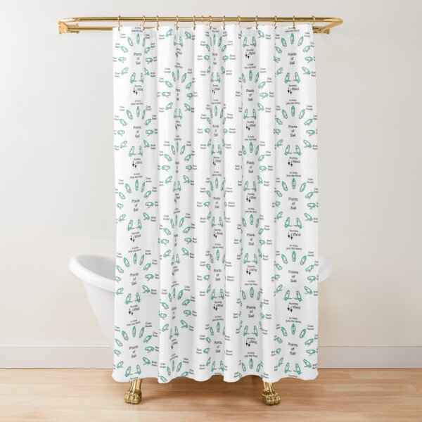 Points of Sail Shower Curtain
