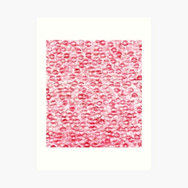 Kiss Wall Texture Art Print