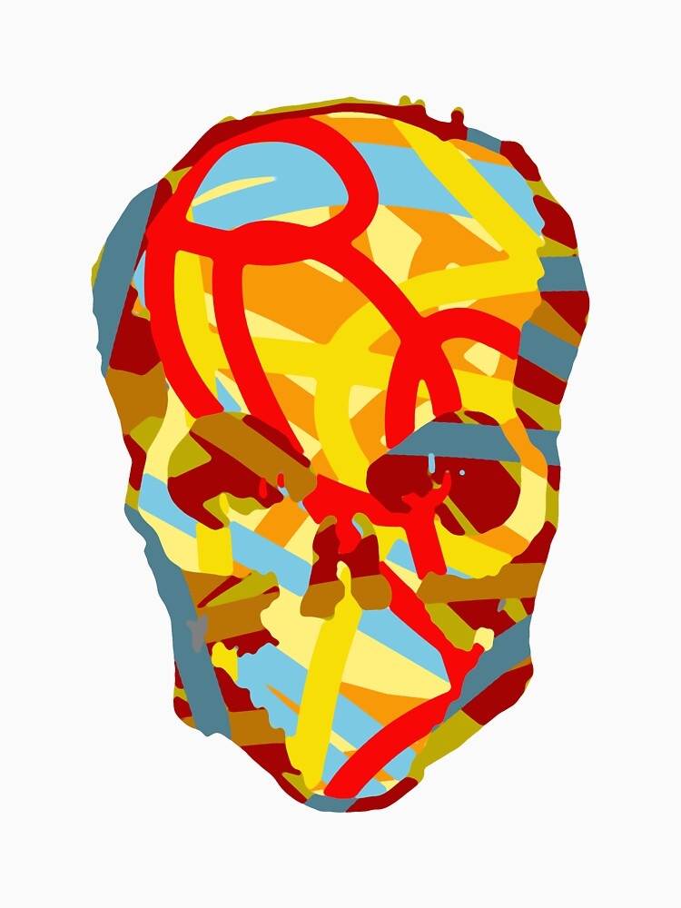 coloured skull by antony