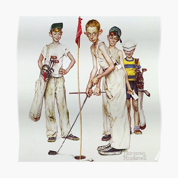 Norman Rockwell Golf Poster