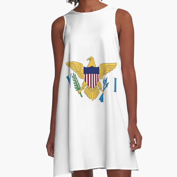 Flag of the Virgin Islands A-Line Dress