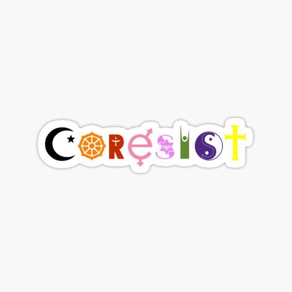 CoResist Co-Resist Interfaith Symbols Sticker