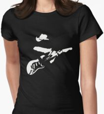 Stevie Ray Vaughan - White Womens Fitted T-Shirt
