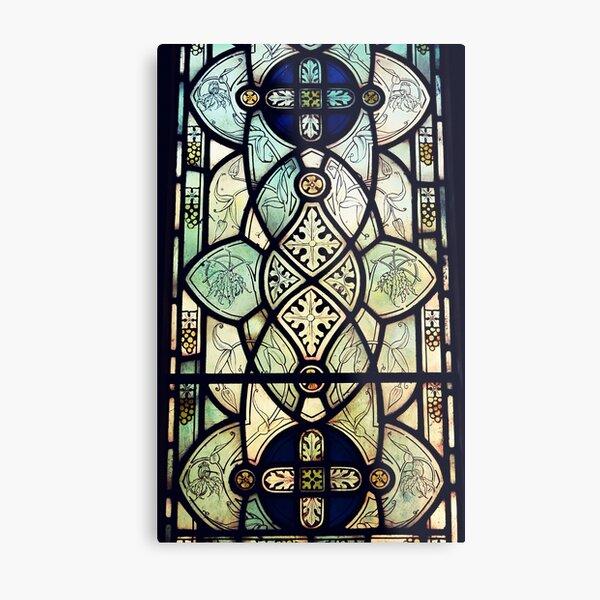 Glass Geometry Metal Print