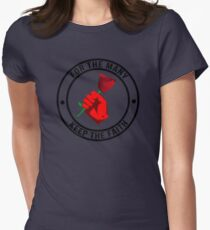 Jeremy Corbyn - Keep The Faith © // UK LABOUR PARTY Womens Fitted T-Shirt