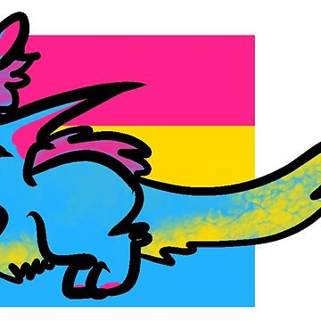 Pansexul Pride Dragon by Feelthesparks