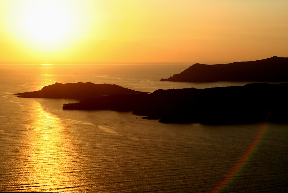 Sunset @ Santorini by BenGartrell