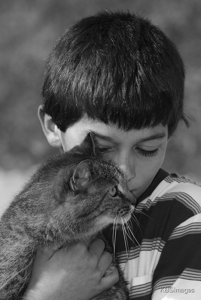 A boy and his kitty by KBSImages
