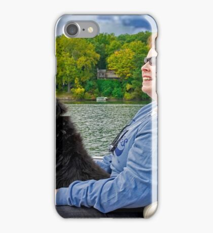 My Dog Coty Driving the Boat iPhone Case/Skin