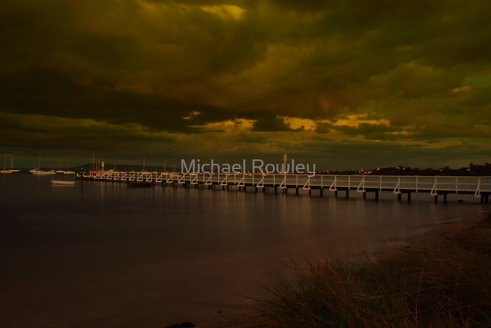 Camerons Bight Storm by Michael Rowley