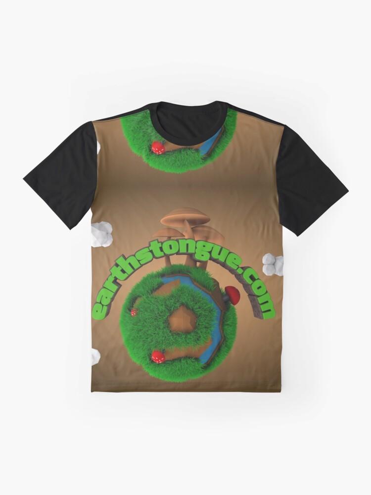 Vista alternativa de Camiseta gráfica Earth´s Tongue