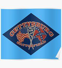 Vintage Gettysburg Battlefield 01076 Poster