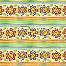 Parterre Botanique Floral  by PatriciaSheaArt