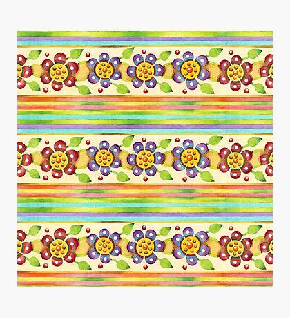 Parterre Botanique Floral  Photographic Print