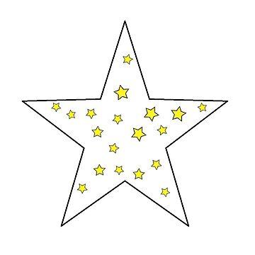 der kleine Stern Prinz - 23 - großer Stern von RMBlanik