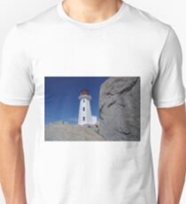 A view from down below Peggy's Cove lighthouse Unisex T-Shirt