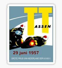 T. T. ASSEN: Vintage Motorcycle Racing Print. Sticker